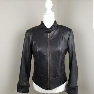 Mackage Leather Jacket Black Size Medium